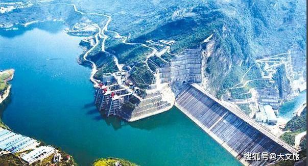 白鹤滩水电站位于巧家县境内,建成后将成为中国第二大水电站图片