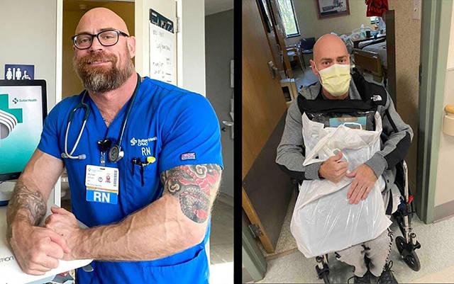 原创 冠状病毒多可怕?美国壮汉护士晒自己染病前后对比照,变化巨大