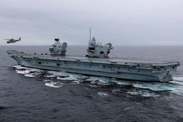 """英国航母上演""""水帘洞"""",英国媒体:已经不是第一次_中欧新闻_欧洲中文网"""