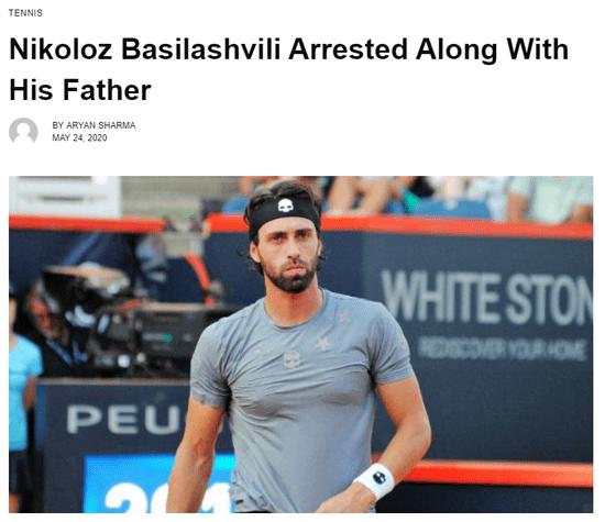 前中网冠军因家暴前妻被捕 或被判三年监禁