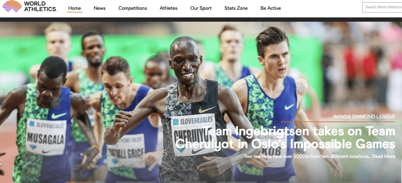 世界田联线上赛玩花样 肯尼亚挪威隔空对决2000米