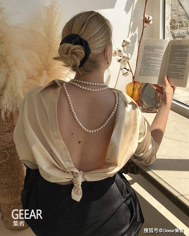 原创随性浪漫又有格调!中长发女生看看这位克罗地亚女生的头发造型