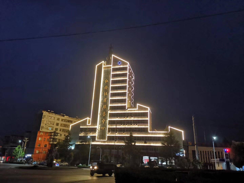 明歌照明武汉红安社区服务中心亮化工程