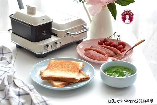 【三明治】有菜有肉有汤,吃饱喝足抹抹嘴,开心上班,10分钟搞定老公的早餐