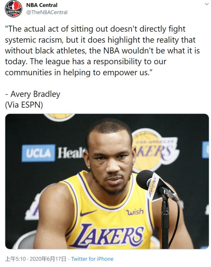 原创             太狠了!雄鹿大将也声明,布拉德利:让你们知道,不平等就没NBA
