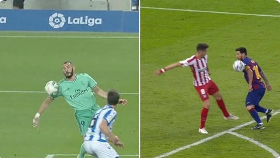 双标?梅西还原本泽马破门被吹手球主裁是同一人