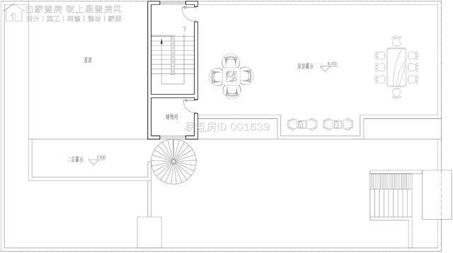 公共休息区设计平面图