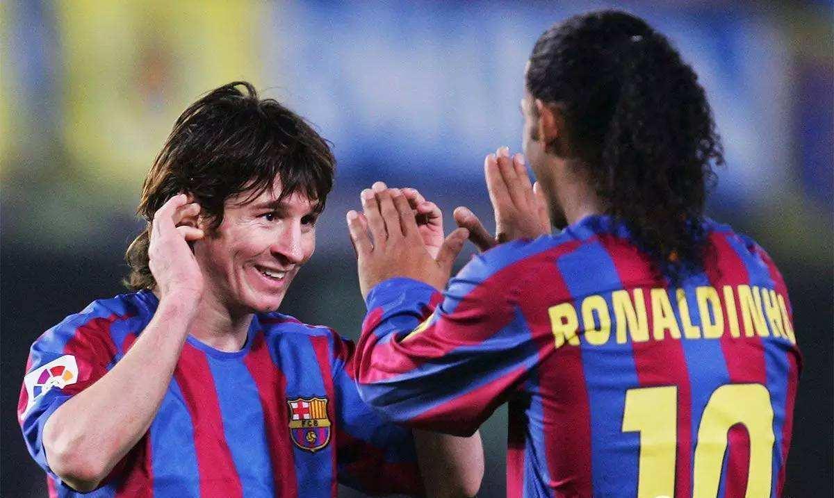 南美10号球王的评选开始了,第一天罗纳尔迪尼奥的支持率高于梅西