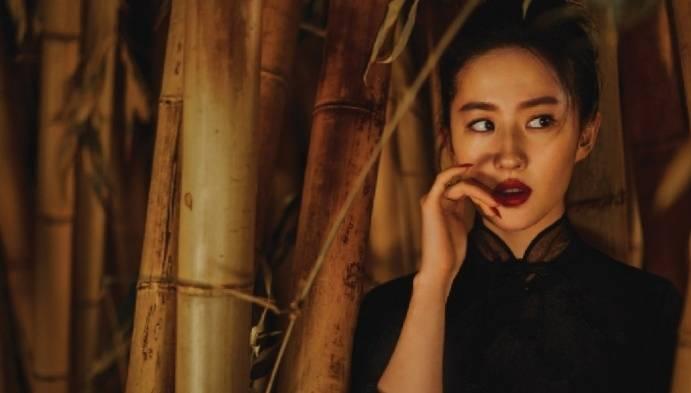 刘亦菲古典写真又美又飒,古风造型令人惊艳,真不愧是花木兰