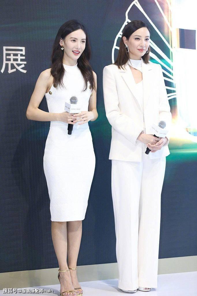 金晨郑希怡两位姐姐惊艳登台,同穿白色礼服,一个优雅一个帅气