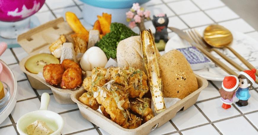 小清新风格的质感早午餐店,把餐点放在鸡蛋盒里创意满分!