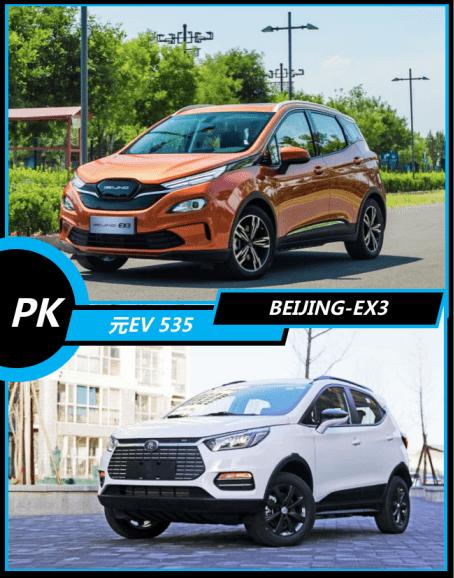 小型纯电动SUV太空赛BEIJING-EX3和元EV 535哪个更适合家用?