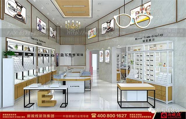 加工室是配镜商的独立镜片区 眼镜店装修设计图
