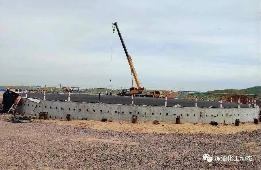 七星体育_ 榆神乙醇项目乙醇罐基础提前完成浇筑