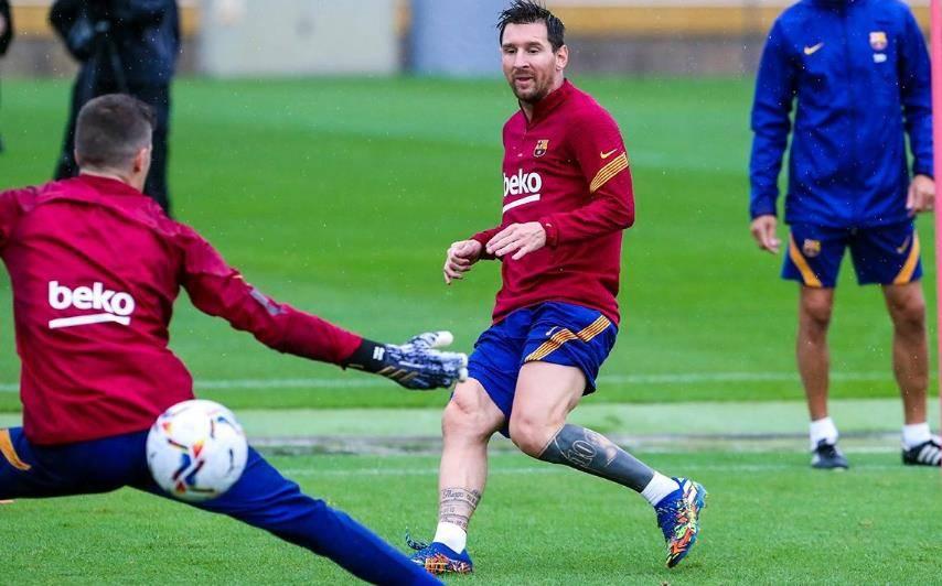 西媒:梅西领众将休息日主动加练