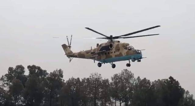 Mi-35 gunship equipped by the Pakistan Air Force.