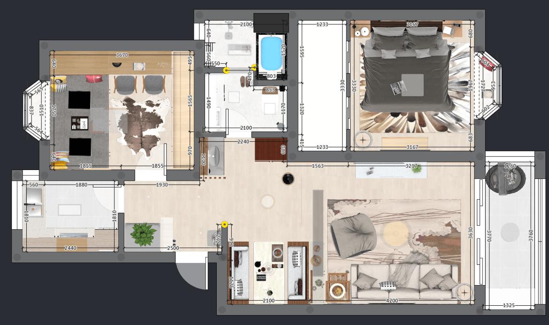 日本回国的业主,把独到的日式设计全装进这套80㎡两房!