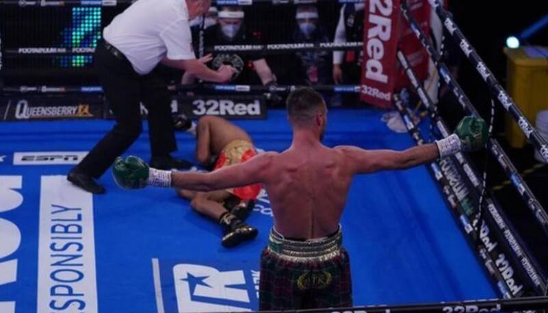 拳击:乔希·泰勒在第一