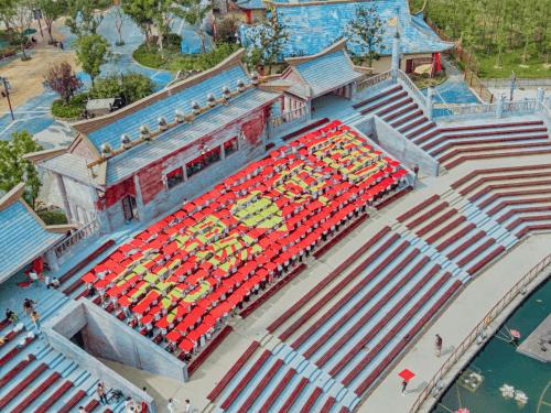 千人红歌会 表明祖国喜迎国庆