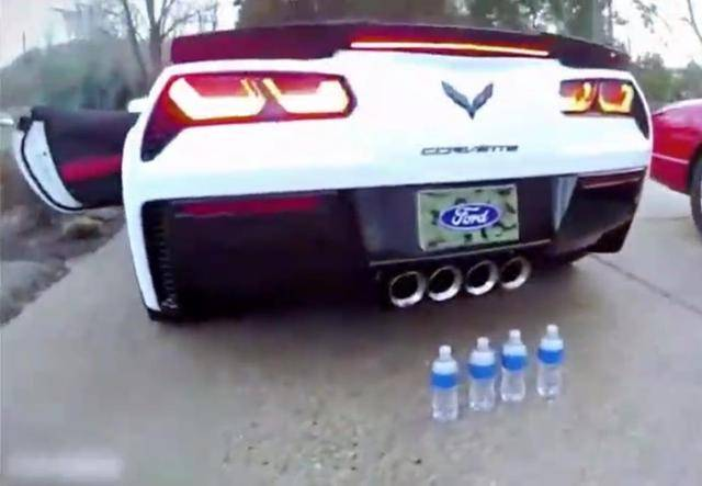 趣味测试 超跑的排气孔有多大 在排气孔后面放