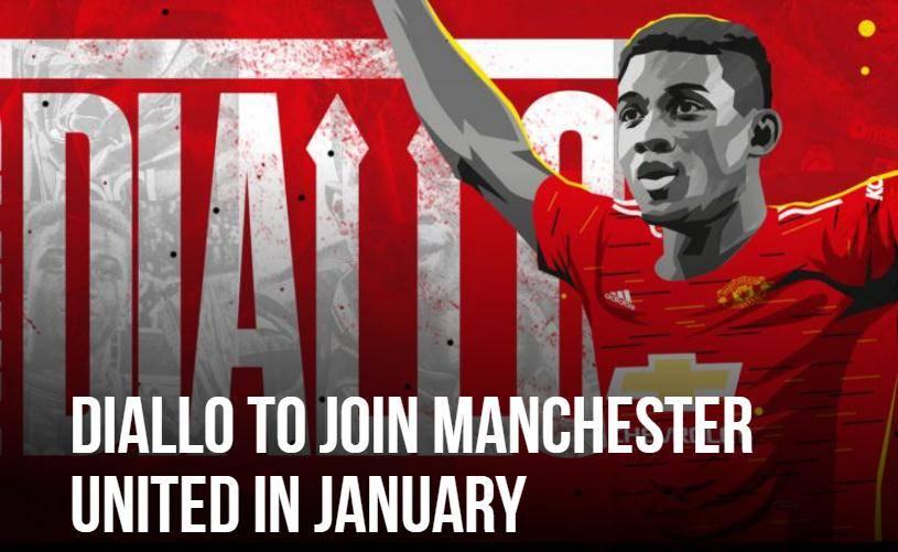 曼联签下亚特兰大迪亚洛 下一年一月加盟