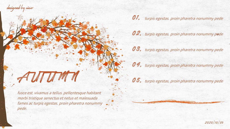 『PPT模板』 清冷的秋天