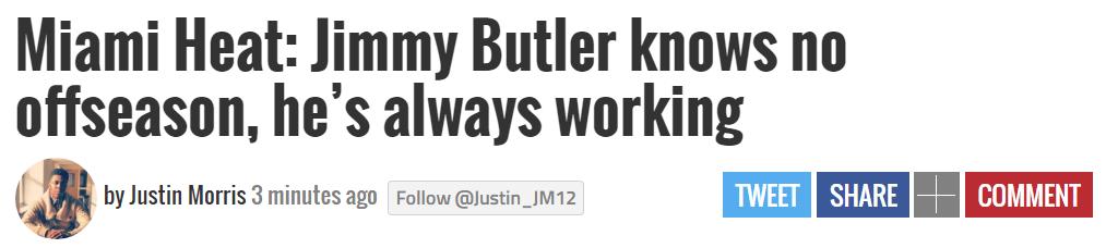 老詹夺冠第五天恢复训练是努力!巴特勒全年无休,却是理所当然?
