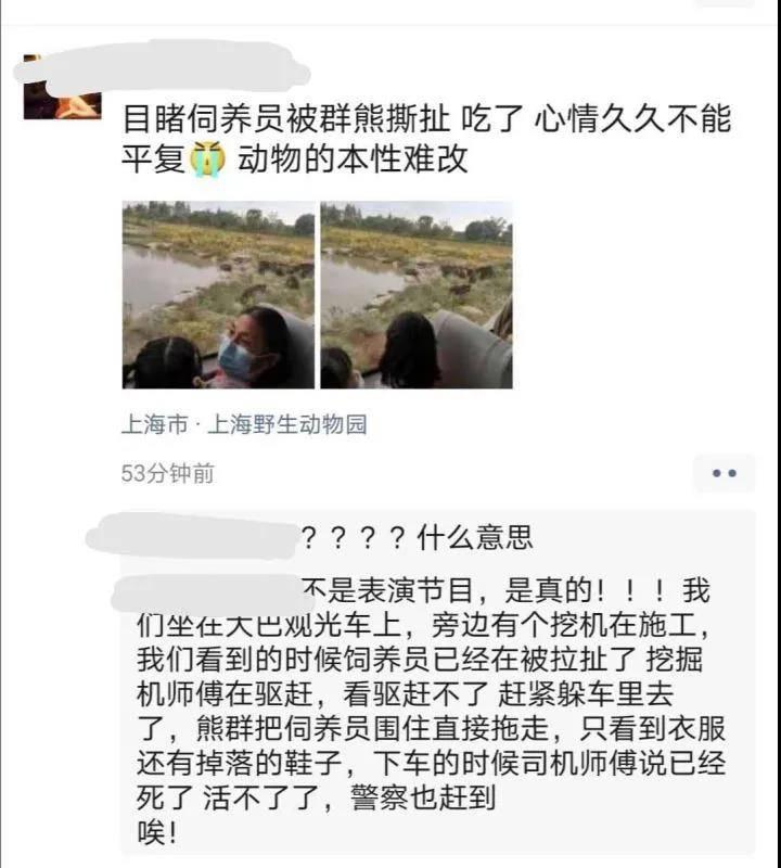 周末惨剧,上海野生动物园熊伤人致1人死亡!