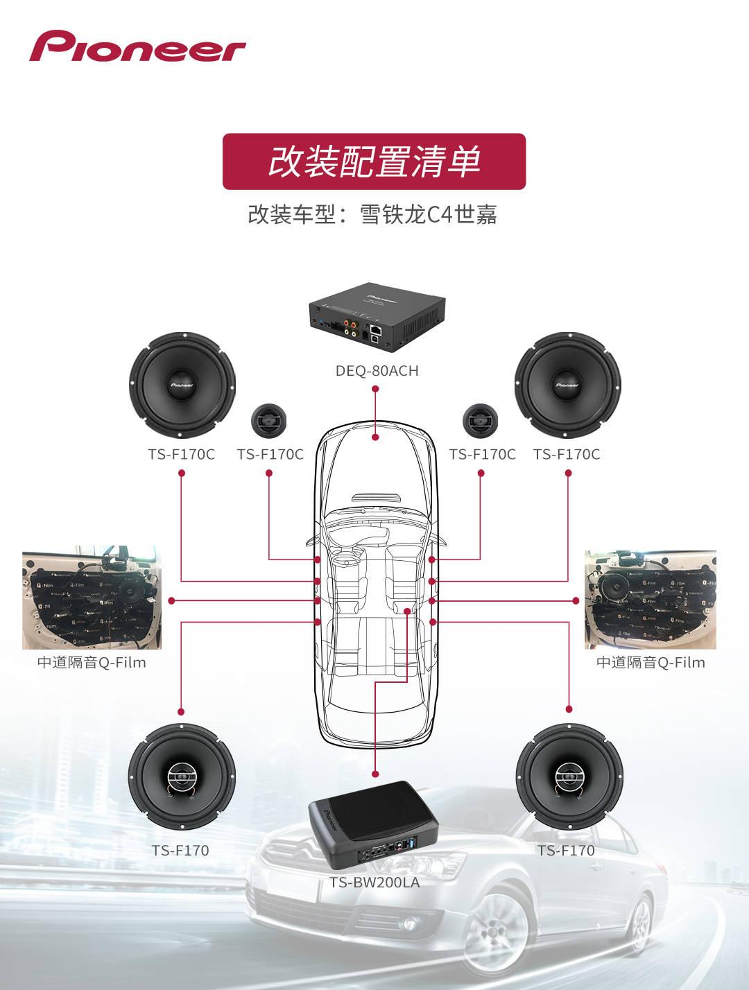 雪铁龙C4世嘉升级先锋汽车音响,赋予汽车音响灵魂