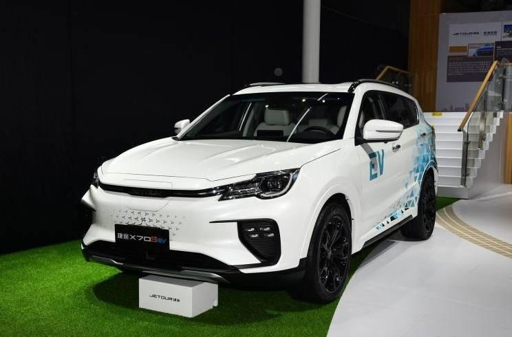 捷威第一款纯电动SUV车型X70S EV亮相广州车展,最大续航500公里