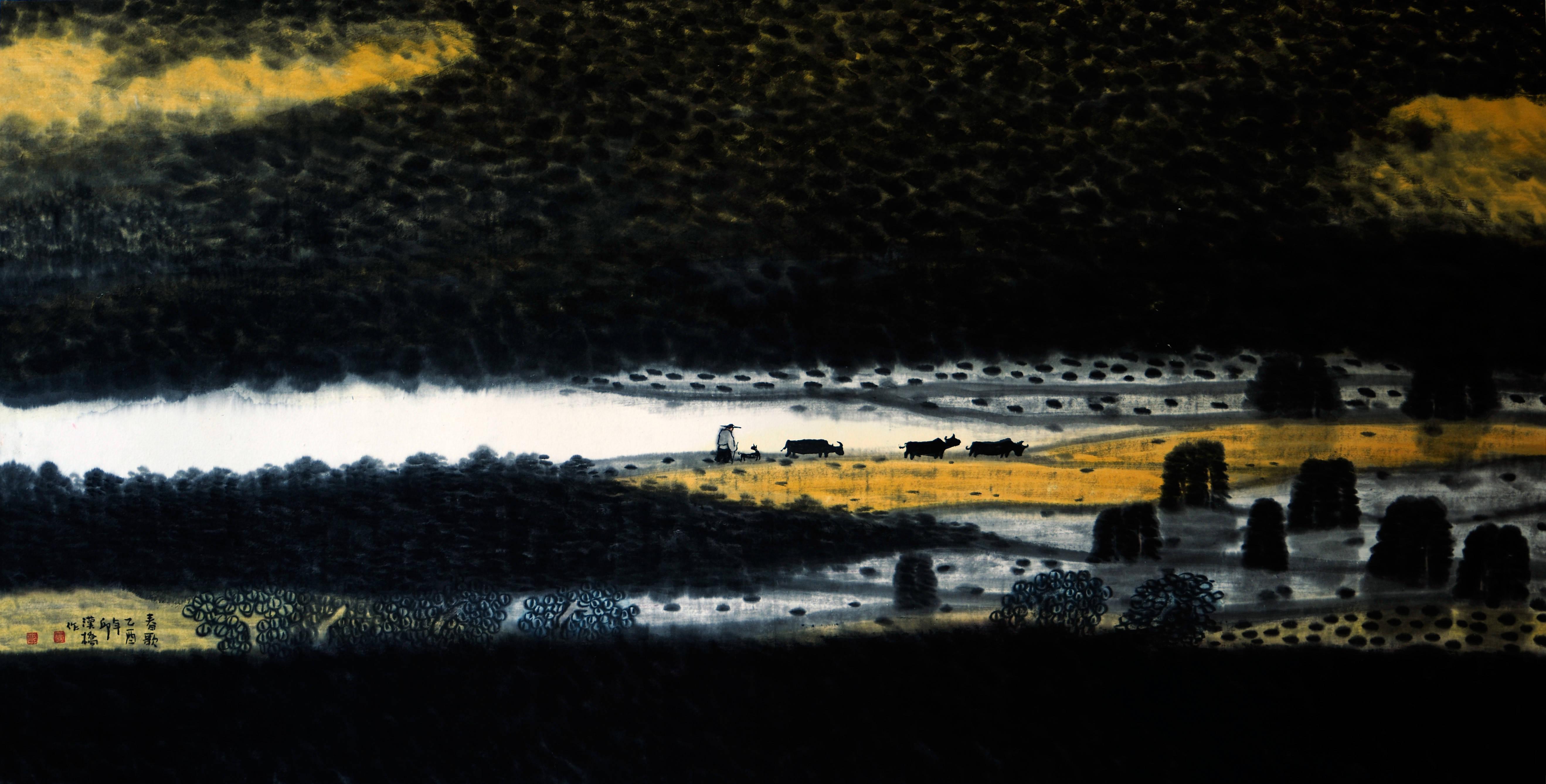 邱汉桥山水画:既有传统的质朴厚重,又有当代的雅致灵动