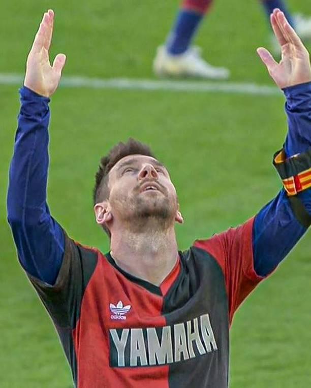 共鸣!梅西晒P图致敬球王,球迷点赞停不下来,不到一天就破千万