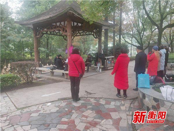 文明旅游在衡阳:西湖公园冬意正浓 市民冬游成美丽风景线