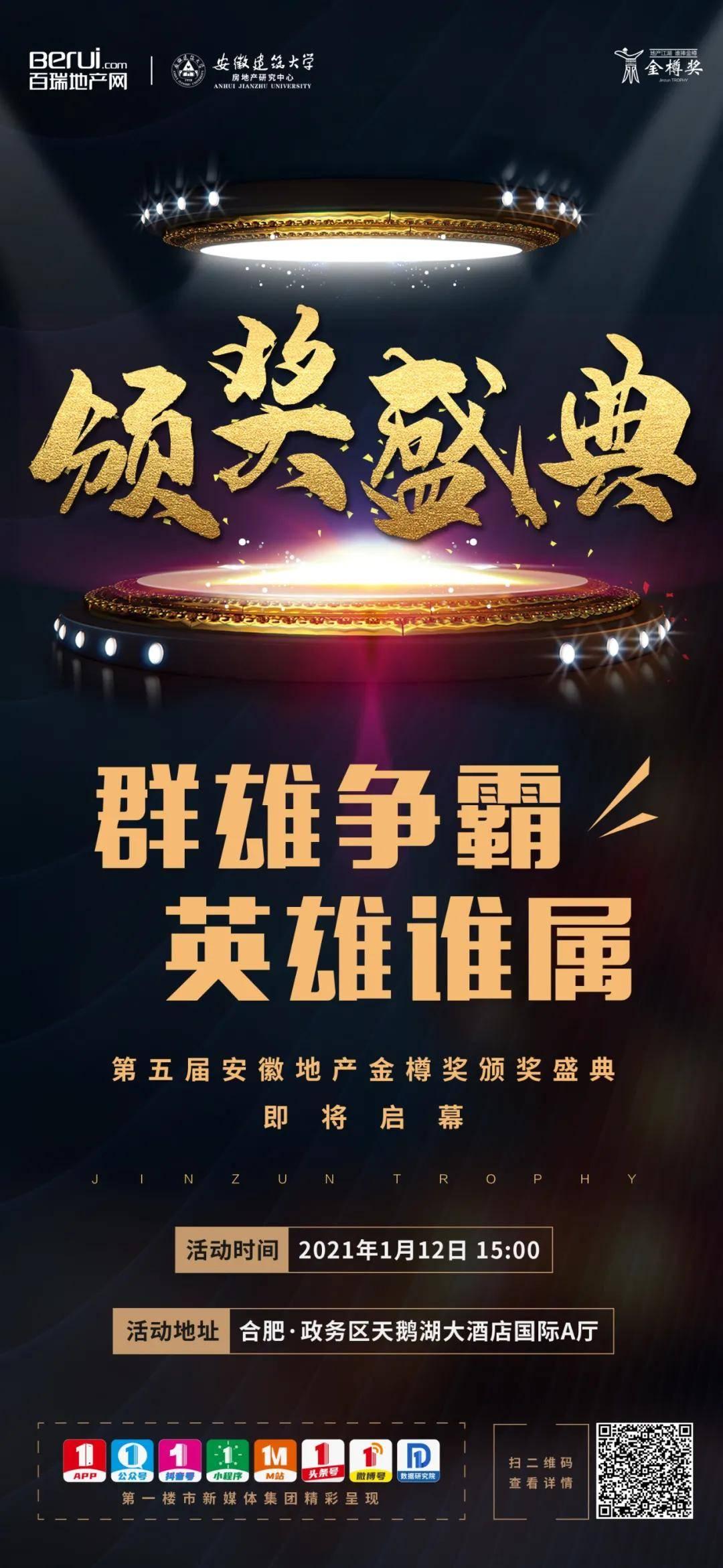 第五届安徽地产金樽奖颁奖盛典即将启幕!期待与你一起见证!