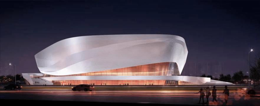 成都高新这座新建的体育场馆,像一朵堆砌的白云?