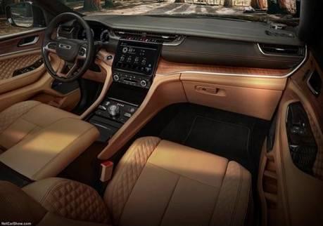 全新一代Jeep大切诺基L官图发布,车长超5米2,轴距达3091MM