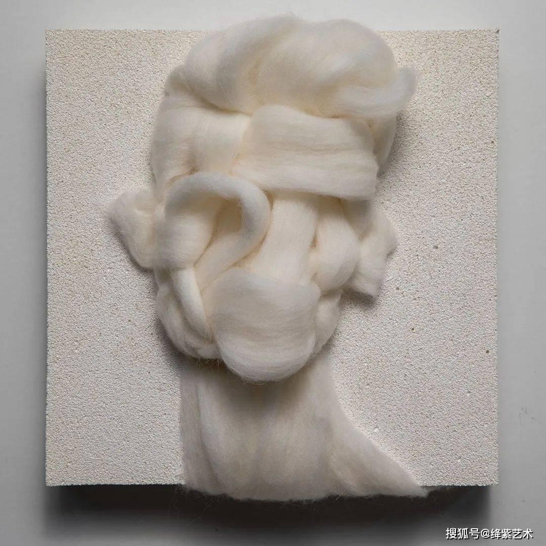 """用羊毛""""画""""人像,他看似温暖的作品,别有深意_霍什鲁"""