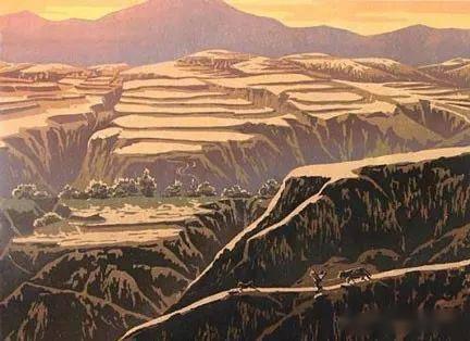 黃土高原手繪圖
