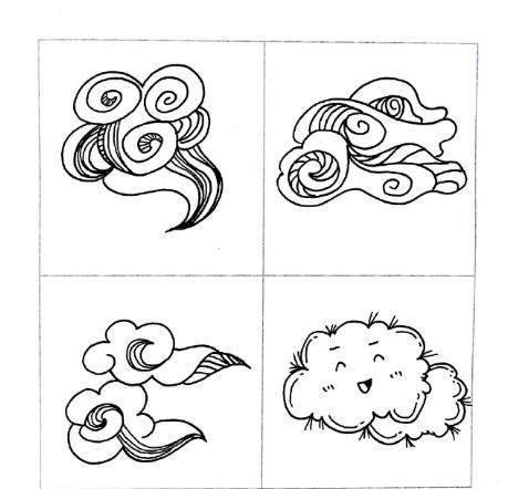 黑白简笔画,喜欢的太阳 月亮 鱼儿 花儿 创想 千千简笔画