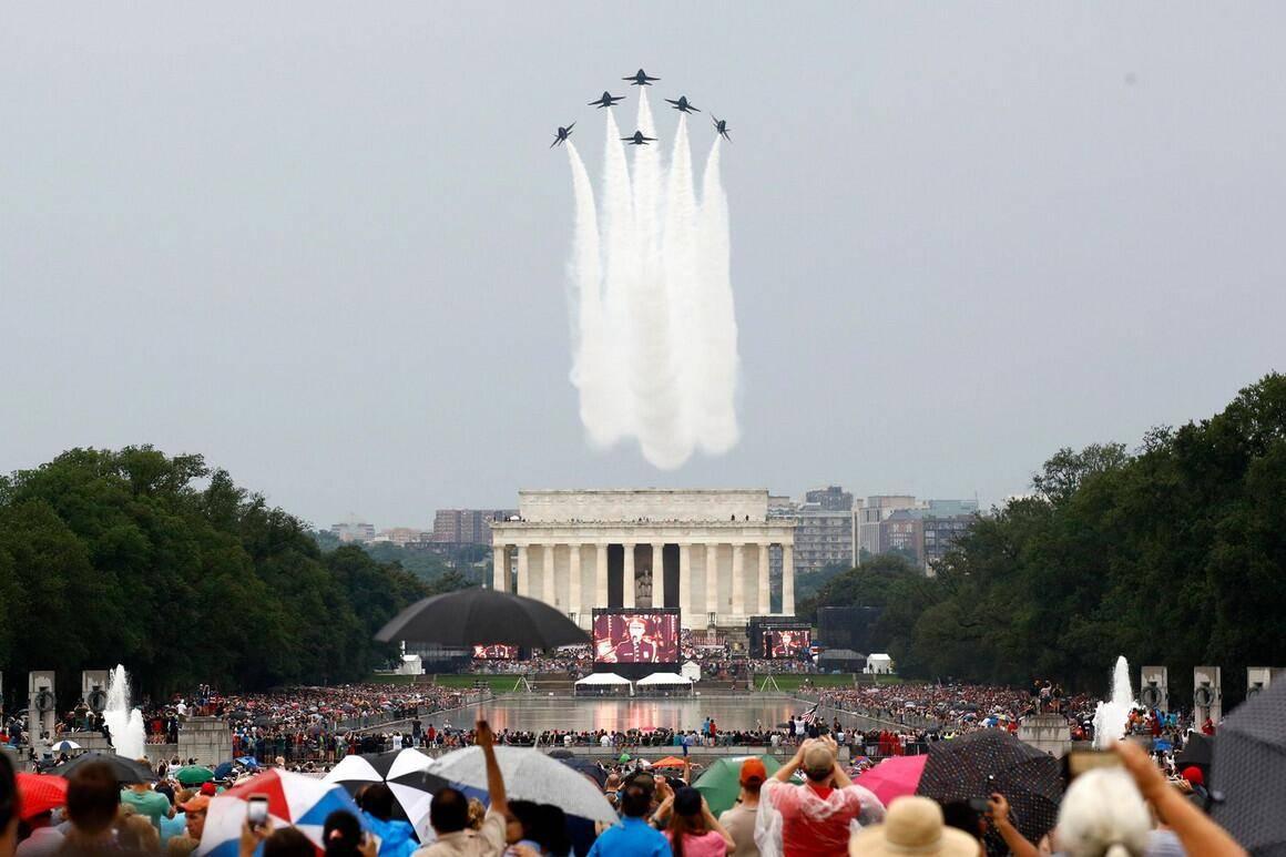 """白宫宣布7月4日将举行第二届""""向美国致敬""""庆典,但特朗普不再在林肯纪念堂讲话"""