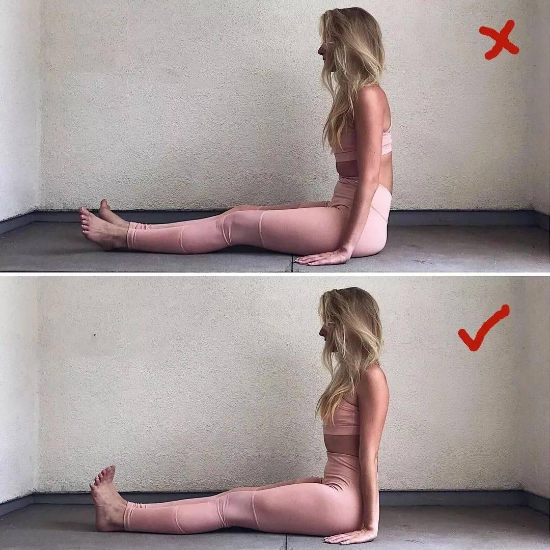14个最常做错的瑜伽体式正误对比图,你做对了几个? 初级健身 第2张
