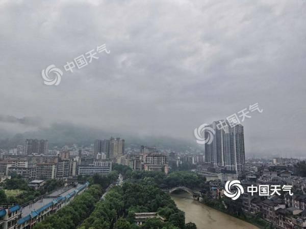 湖南今天湘中以北仍有较强降水  明后天降水趋于减弱