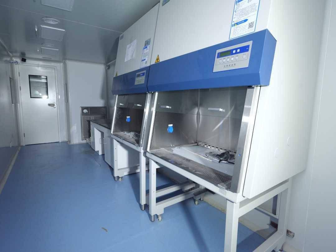 中建一局援建北京方舱核酸检测实验室7天完工