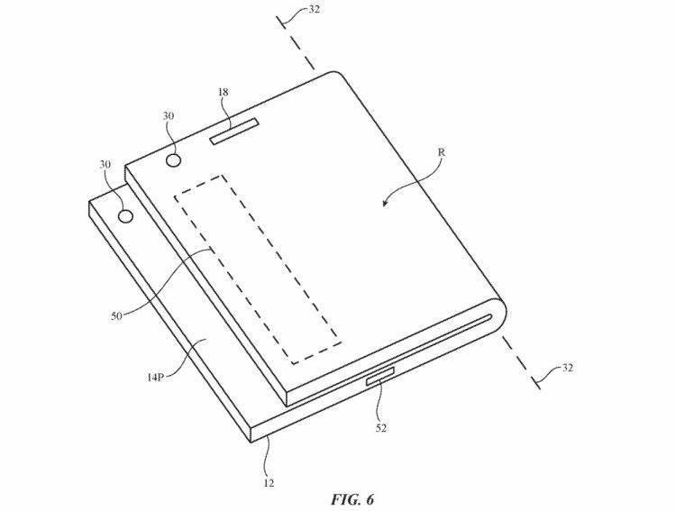 苹果申请新折叠屏iPhone专利:采用非对称折叠