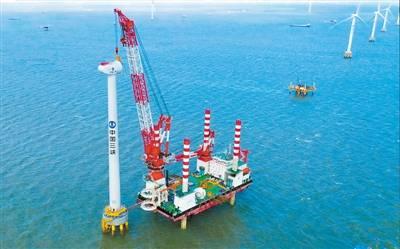 容量|亚太单机容量最大海上风机并网发电