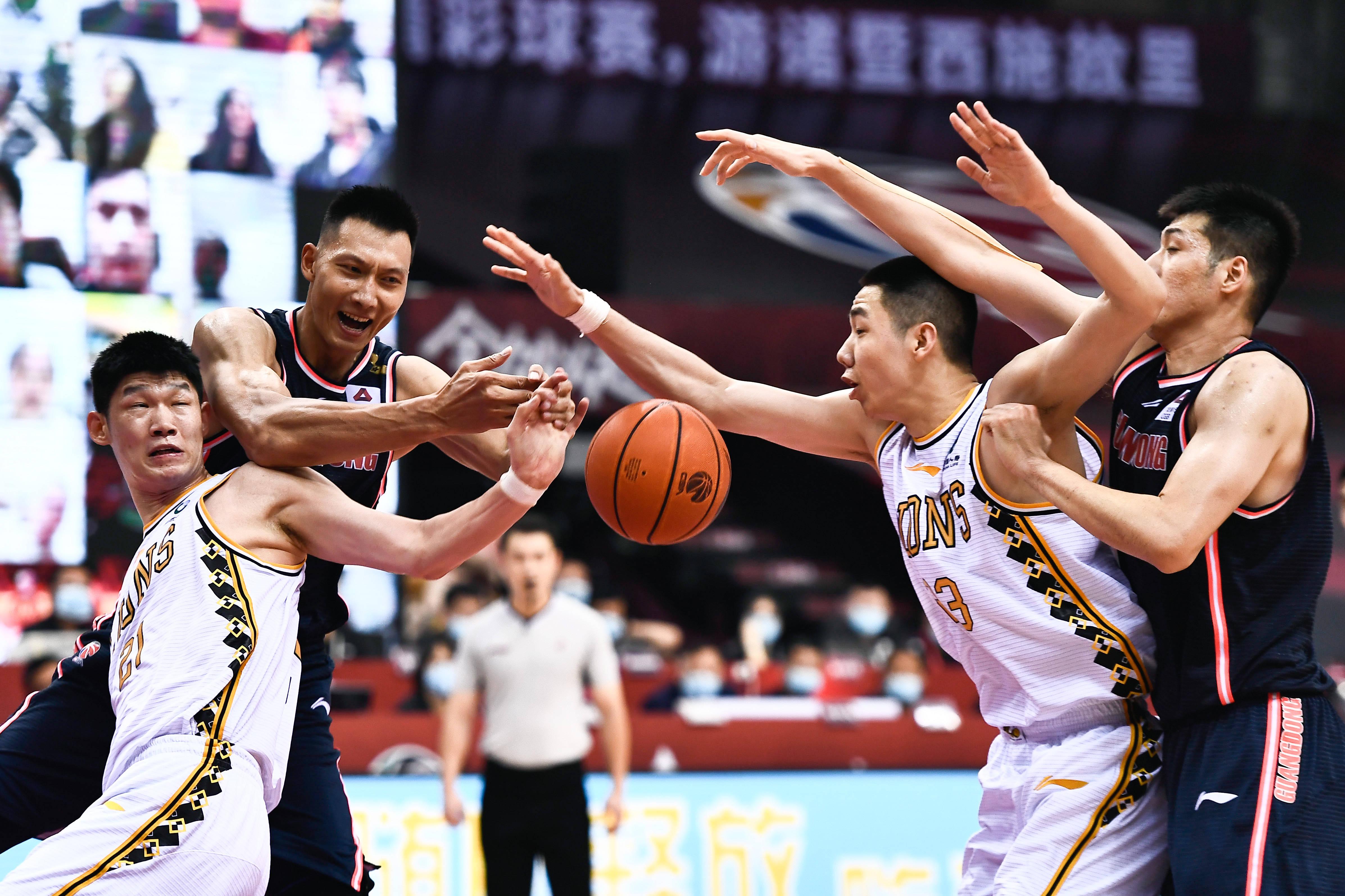 篮球——CBA复赛第二阶段:广东东莞银行胜浙江广厦控股