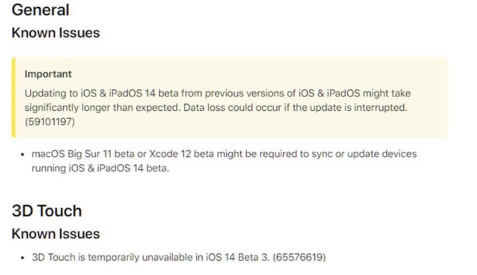 hp1020驱动下载苹果 iOS 14 Beta 3 暂时禁用