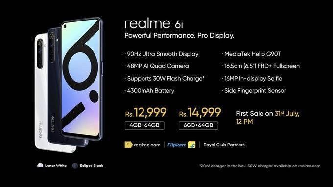 什么是光波炉1219 元起,realme 6i 手机印度