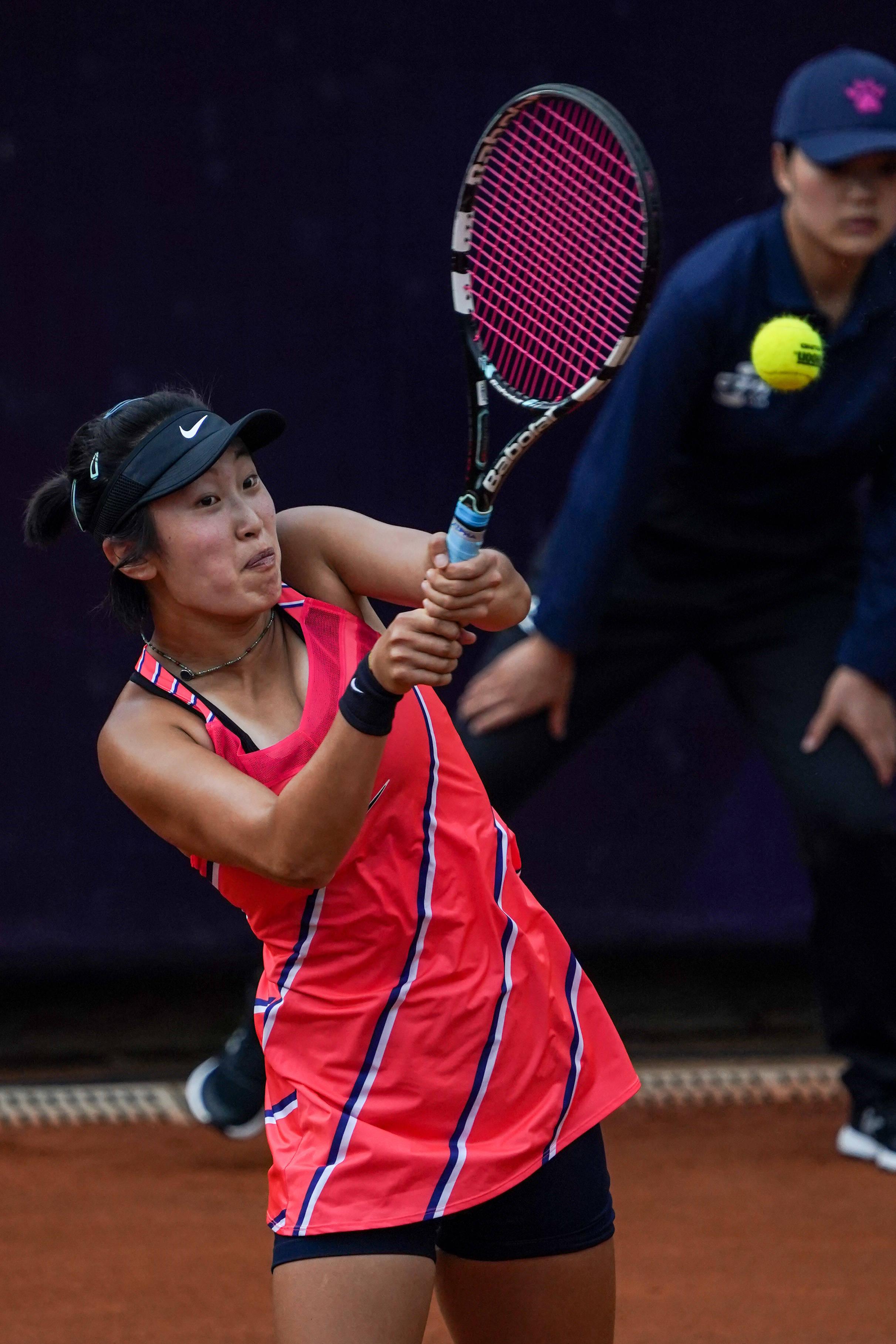 网球——中国巡回赛安宁站:王美玲晋级决赛