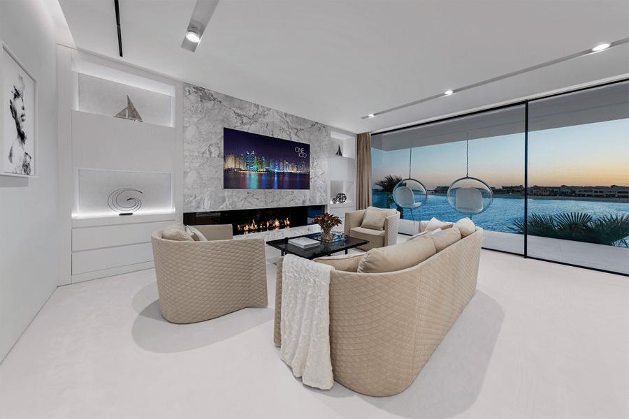 迪拜 1300㎡ 的别墅,售价 2.2 亿,简约设计也是豪宅